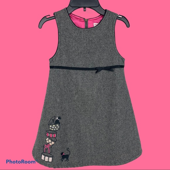 Gymboree Girls Recycled Gray Wool Dress size 5